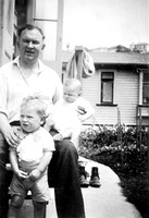 1 - Me standing as a tolder with David and Dad late 1952 (bw)