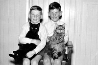 1 - Dave with me, with Blackie and Sammy 1960
