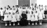 1 - Holy Communion. I am at the back third left of the doors. With Friar Bartlett