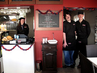 Alana MacKay, Andrew McCathie, Phil MacKay owners of Cafe' Rouge, Empire Street, Cambridge, New Zealand