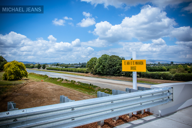 A nice summer's day for a new bridge Peake Road Hautapu / Waikato Expressway